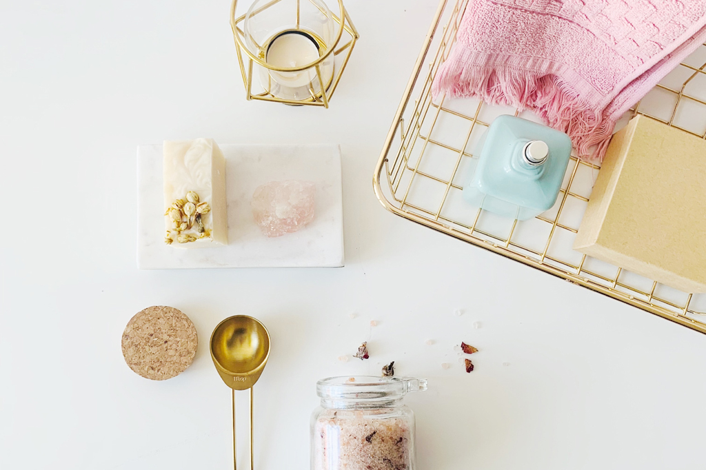 at home spa day products uby yanes unsplash