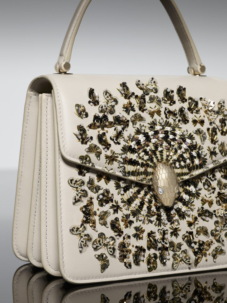 Mary Katrantzou x Bvlgari Serpenti Metamorphosis bag exclusive design