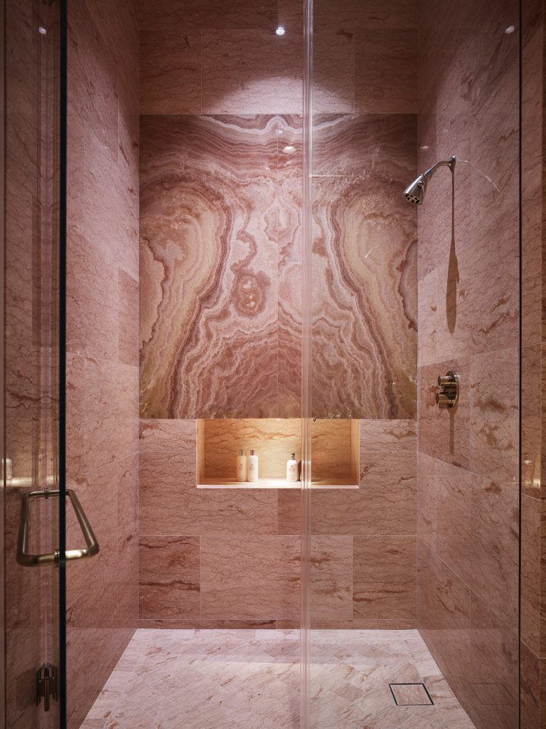 212box pink marble bathroom bahr residence