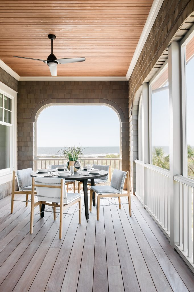 cortney bishop beach house porch dining area