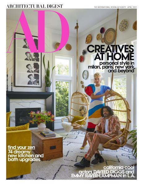 architectural digest best interior design magazines april 2021 cover