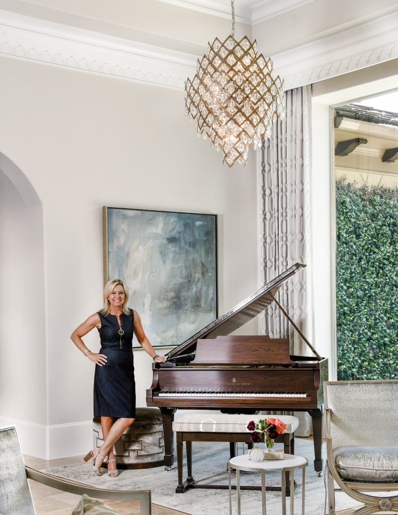 Nancy Charbonneau in a home she designed in houston Texas
