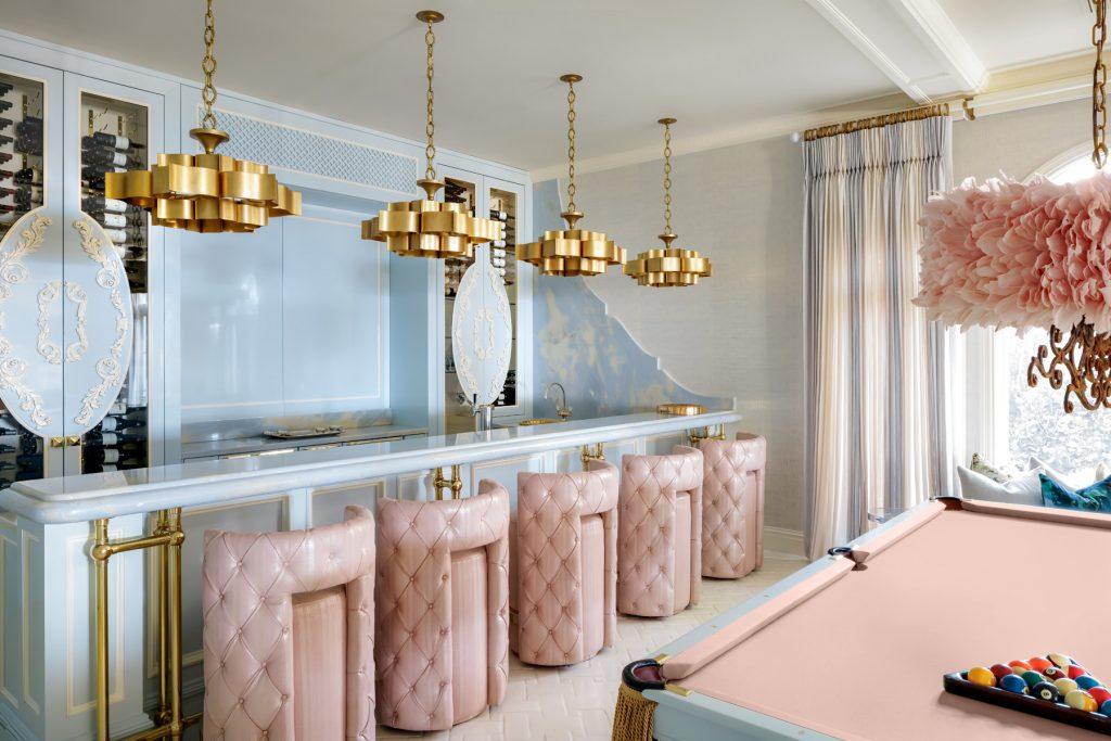 lori morris bar pool table pink and blue