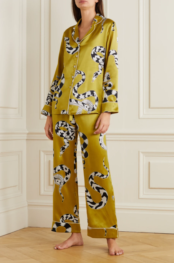 olivia von halle lila silk satin pajamas mother's day 2021 gift ideas