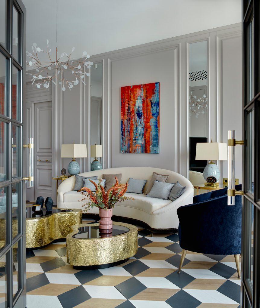 Interior by Katerina Lashmanova featuring the Vamp Sofa by KOKET