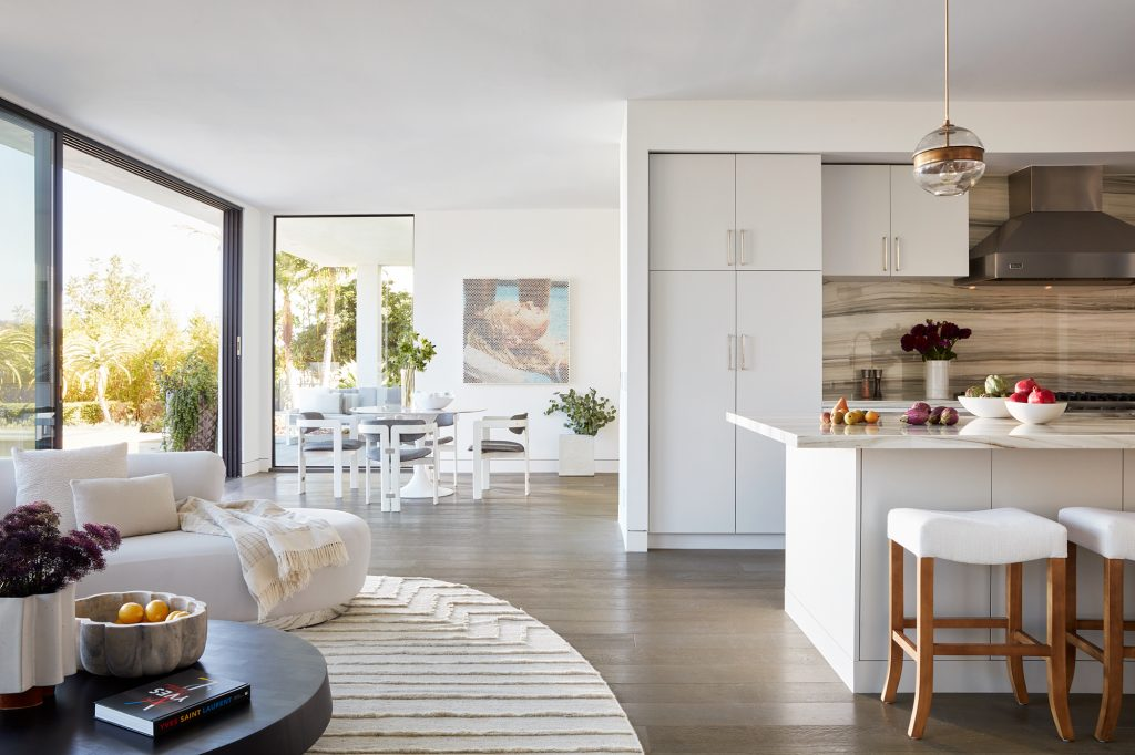 serene central living area summer vacation home beach mountains bel air by sara story design - photo roger davies