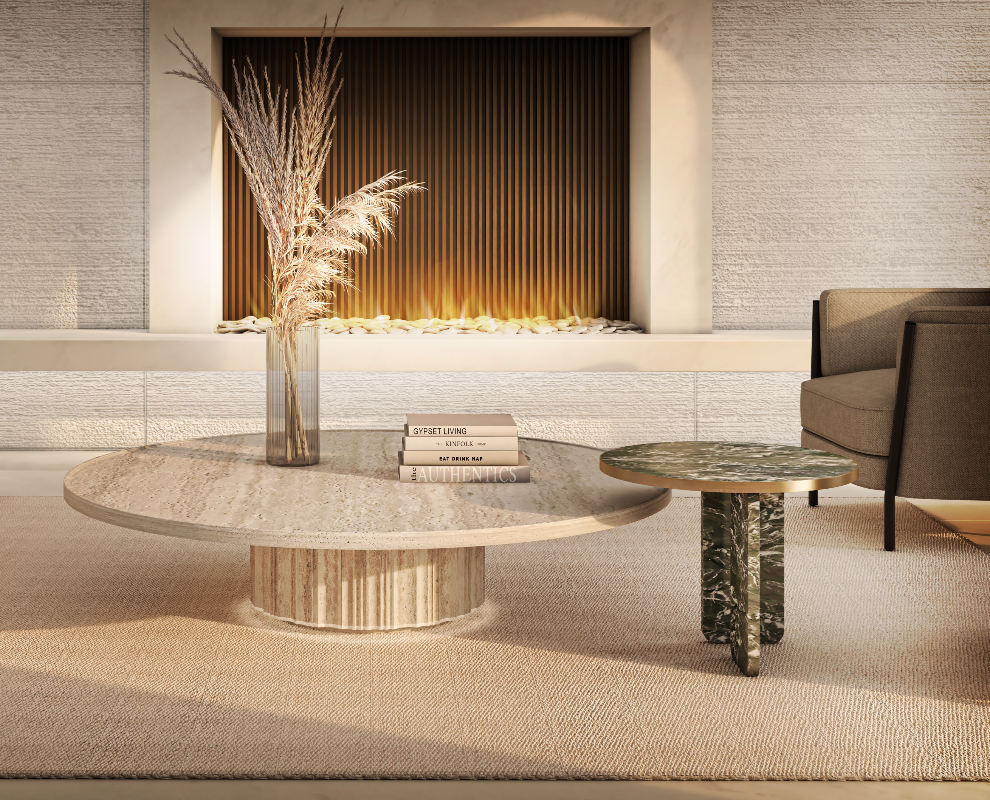 Stone tables by The Davani Group