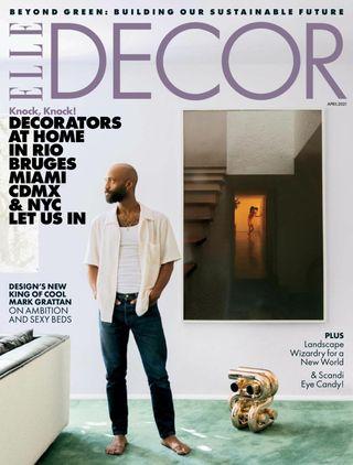 best interior design and home decor magazines elle decor april 2021 cover