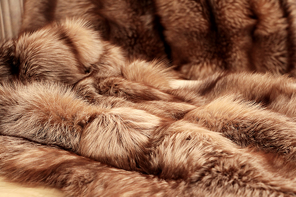 finland fox natural fur throw koket mother's day gift ideas mother's day 2021