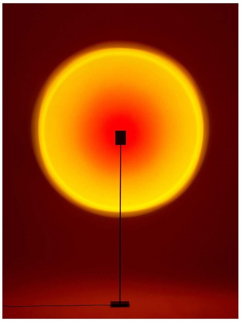 'Halo One' Sunset Red Floor Lamp/ Color Projector by Mandalaki Studio