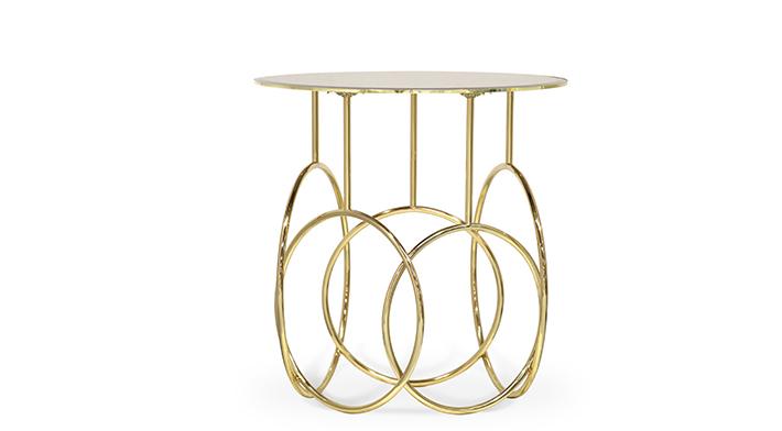 Kiki Side Table koket brass whimsical