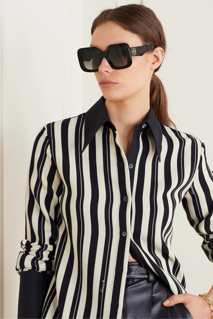 Oversized square-frame acetate sunglasses by Loewe