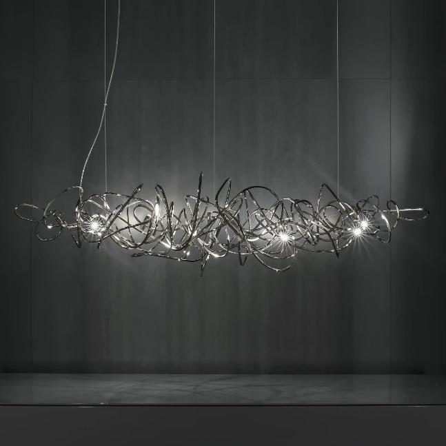Doodle Linear Suspension Light by Simone Micheli for Terzani