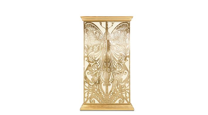 Mademoiselle Armoire koket art nouveau furniture design butterfly cabinet
