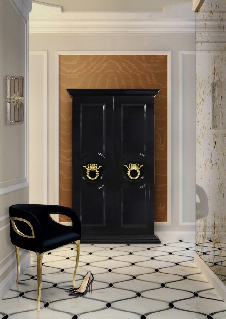 mudroom Interior design ideas glamorous by KOKET featuring the Parisian Armoire & Chandra Chair