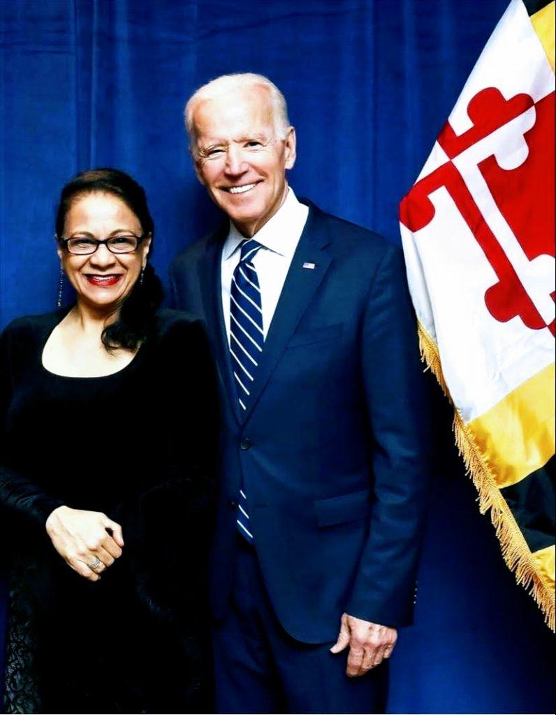 Seema Azharuddin with President Joe Biden