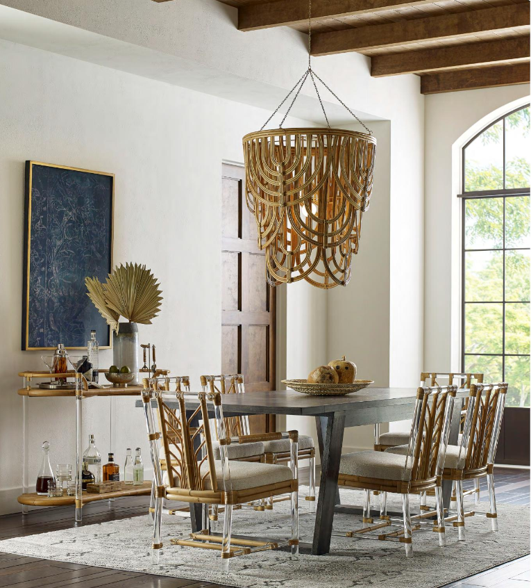roaring 2020s interior design trends Sea Cliff Collection by Selamat raffia furniture