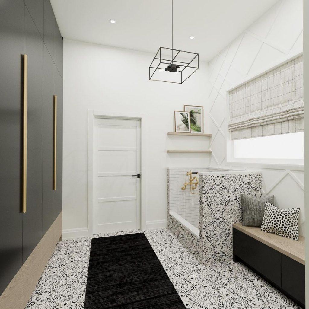 soda pop design inc mudroom ideas window coverings roman shades black and white