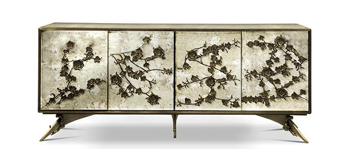spellbound cabinet koket antique mirror floral design sideboard