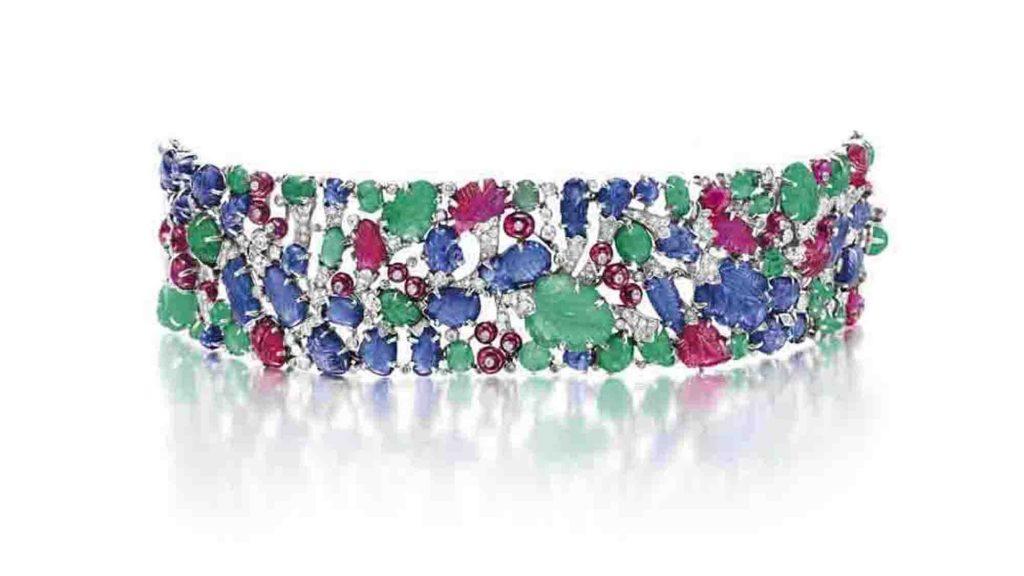 "An Art Deco Diamond & Multi-Gem ""Tutti Frutti"" Bracelet by Cartier, c. 1930"