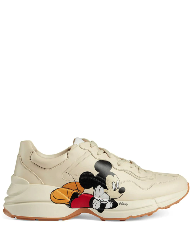 unusual brand collaborations iconic Disney-x-Gucci-sneakers