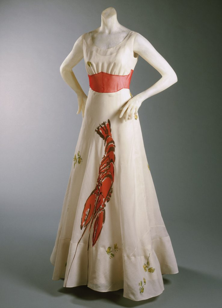 iconic dress Lobster Dress Schiaparelli Dali 1937 unusual design collaborations