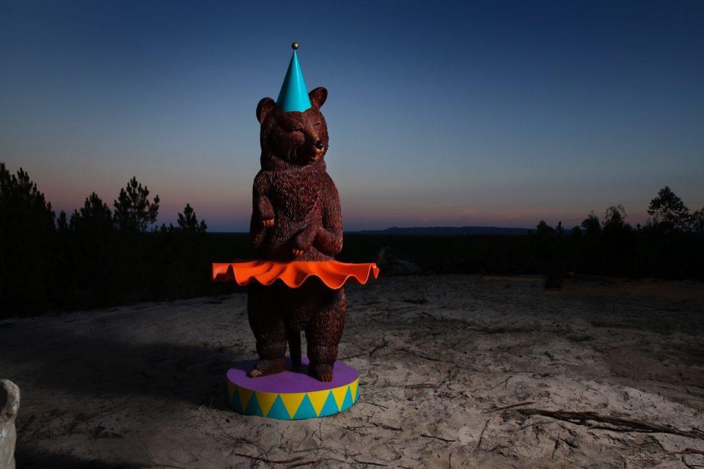Marine Weber's The Autumn Bear melides art park sculpture