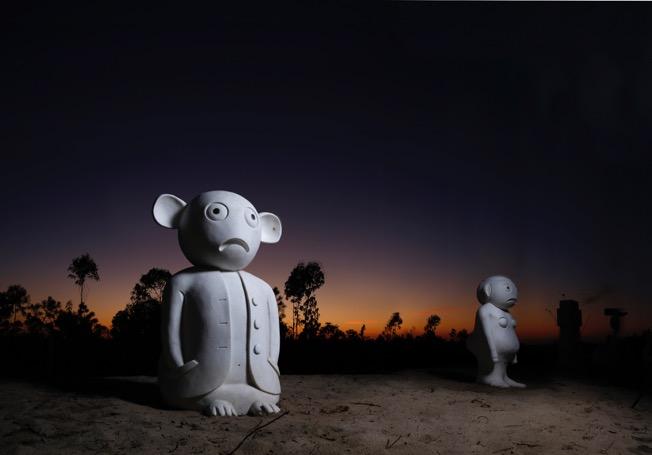 Olaf Breuning's The Humans melides art park sculptures