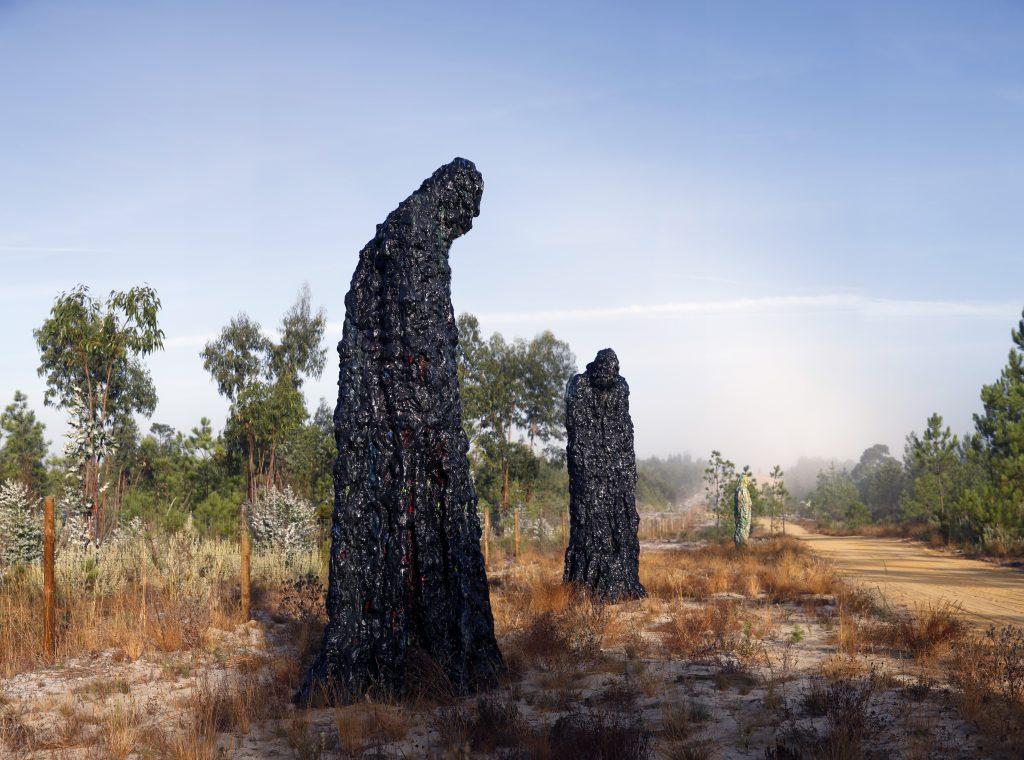 Robert Melee's Colorful Monsters melides art park sculptures