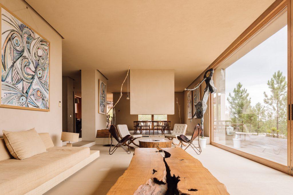 neutral nature Melides Art living room studio residence