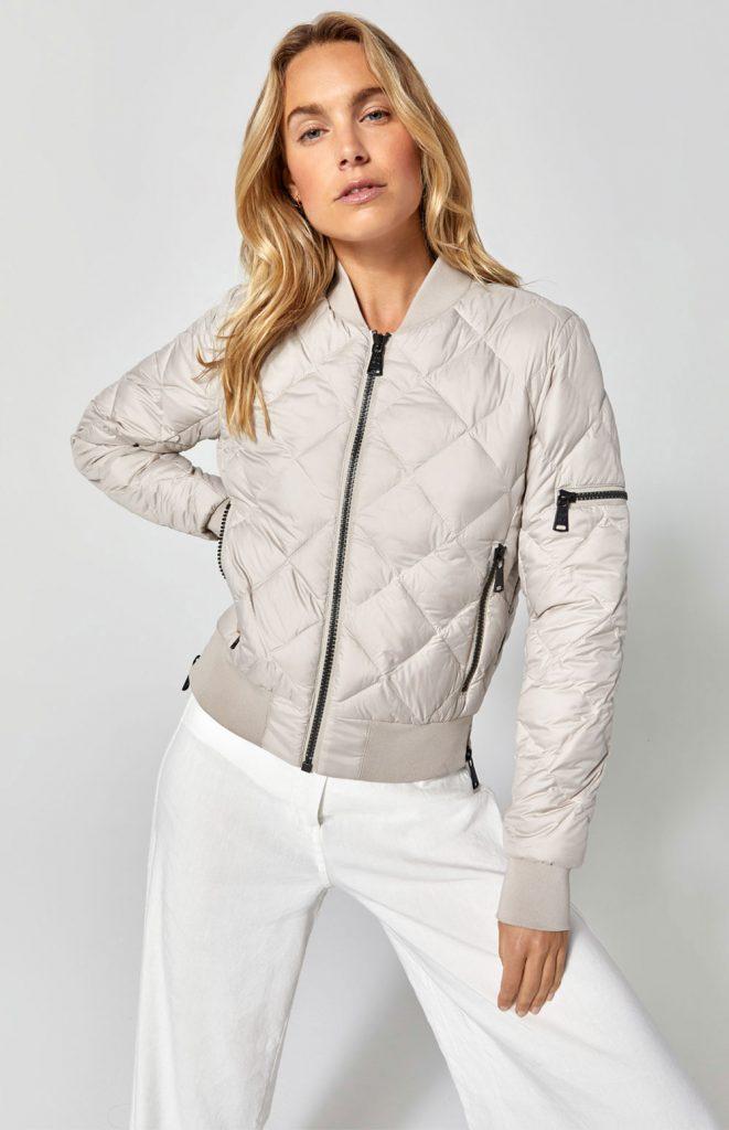 susanne reich alp n rock metro bomber jacket luxury skiwear grey silver