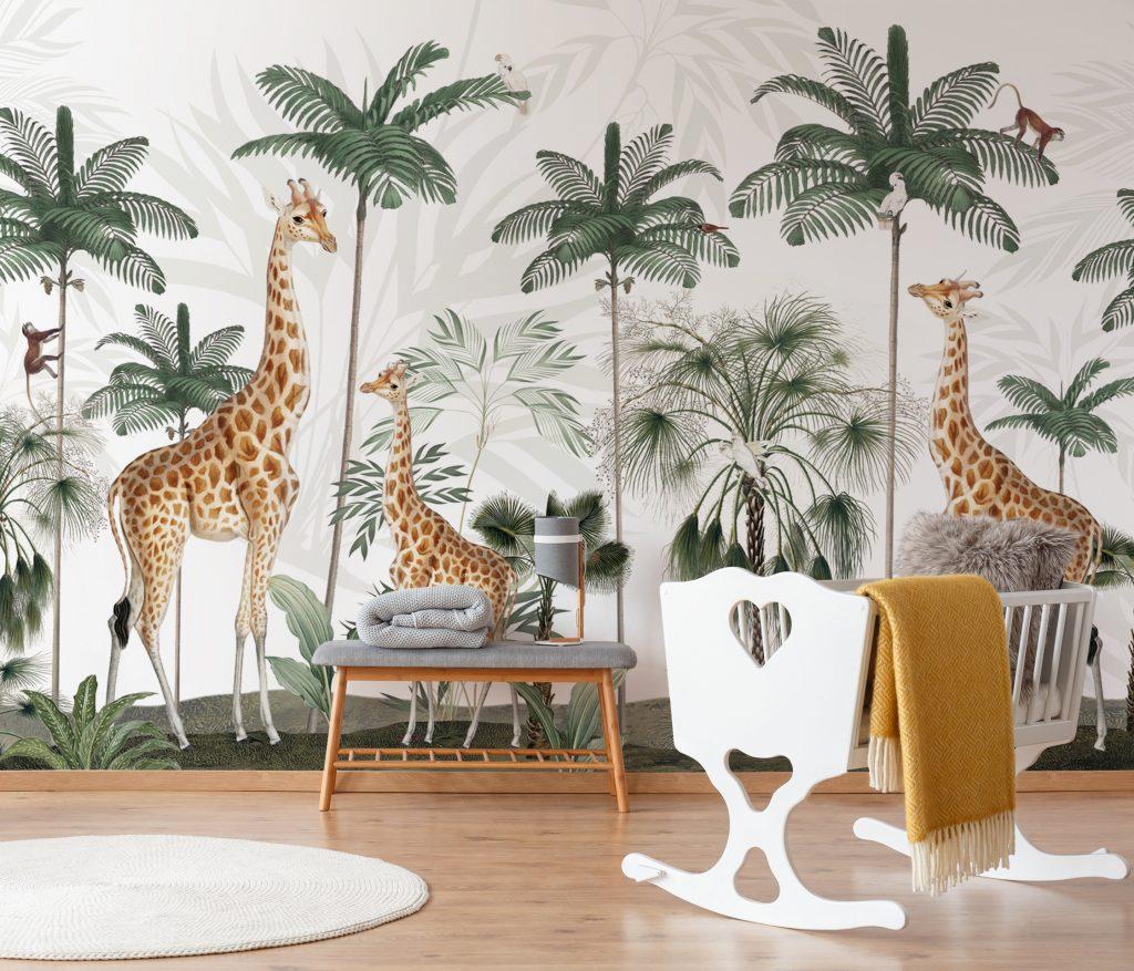 Gracious Giraffes Mural by Kikki Belle at Wallsauce.com