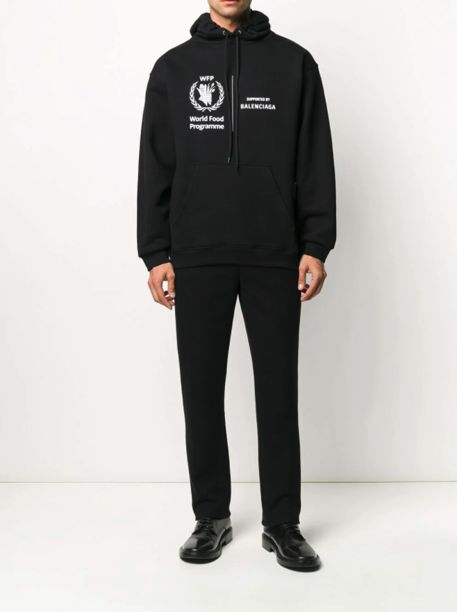 World-Food-Programme-X-Balenciaga-black-hoodie