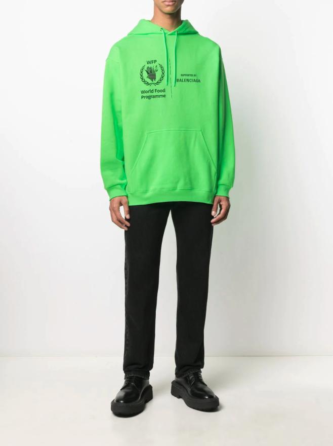 World-Food-Programme-X-Balenciaga-green-hoodie
