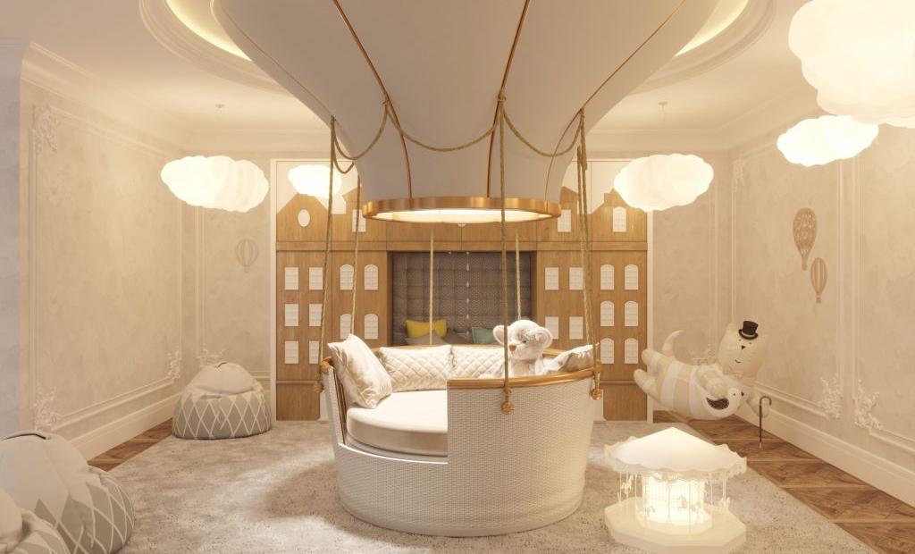 nursery room theme ideas ab partners luxury villa london nursery circu fantasy balloon bed