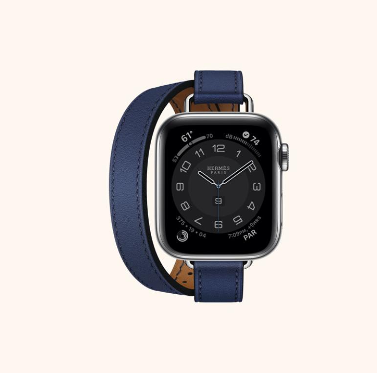 unusual brand collaborations design apple-watch-x-hermes-blue