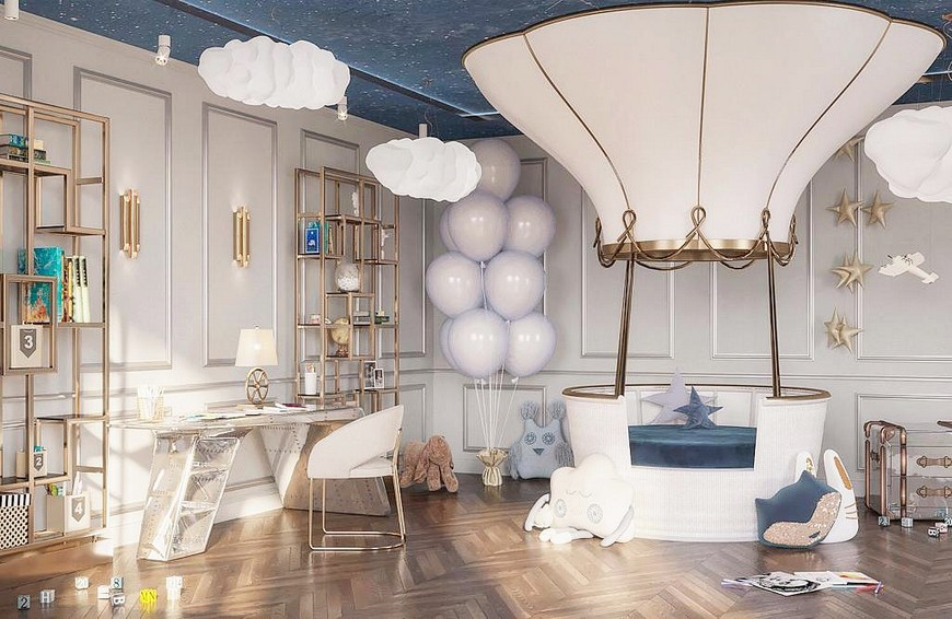 starry night nursery theme ideas Interior by Circu Magical Furniture