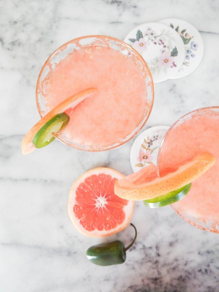 signature cocktail pink jalapeno grapefruit christine trant unsplash