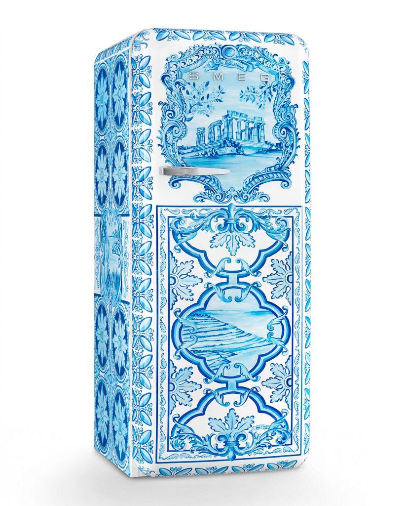 unusual iconic brand collaborations dolce-gabbana-x-smeg-refrigerator