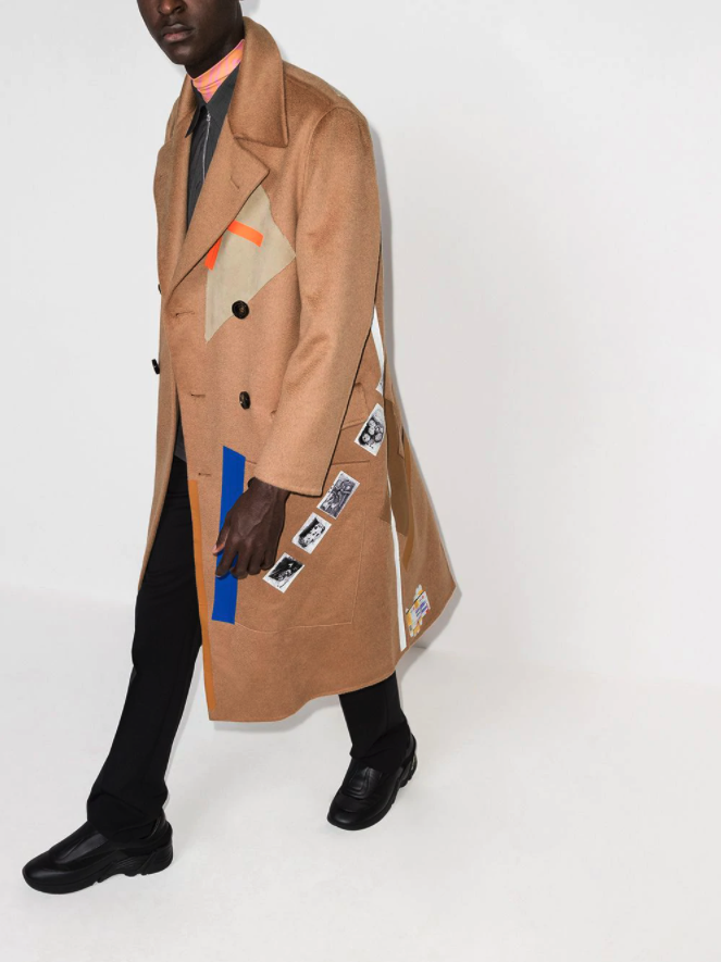 raf simmons x sterling ruby double-breasted-coat