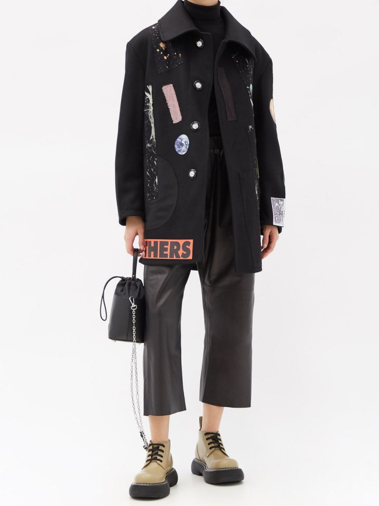raf simmons x sterling ruby outfit wool coat