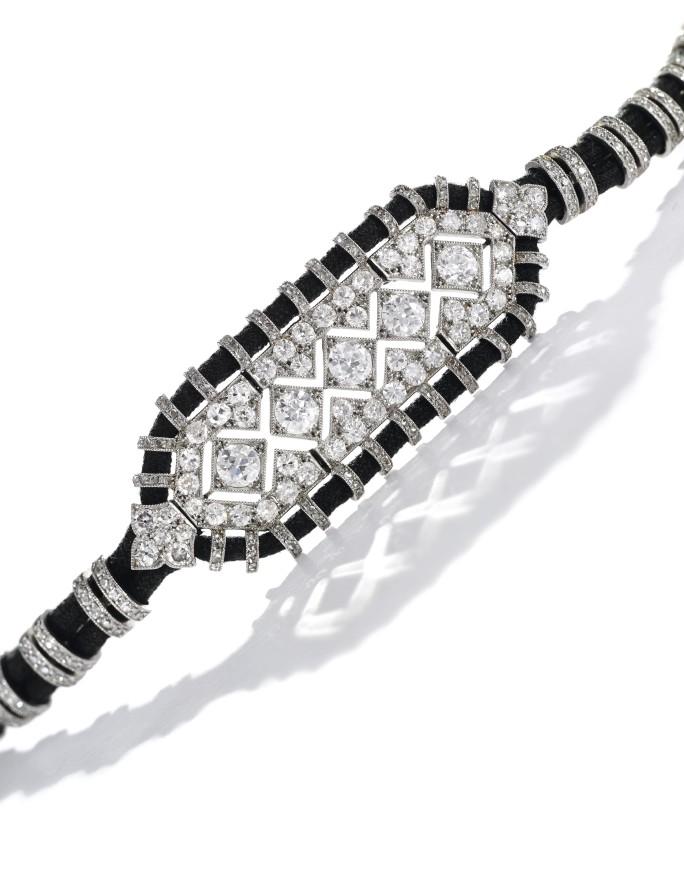 Diamond bracelet, Cartier, c. 1920s. Source: Sotheby's
