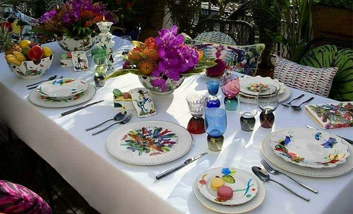 vista alegre caribe tableware elegant dinner party at home