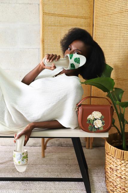 Fashion Savvy Women Entrepreneurs ALEPEL green leaf slides