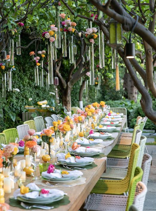 sabrina monte carlo garden party table setting green and yellow