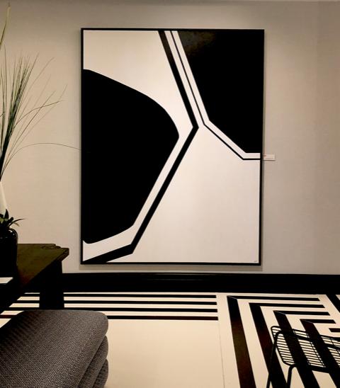 abstract art by Débora Sánchez Viqueira at casa decor madrid 2021 exhibition