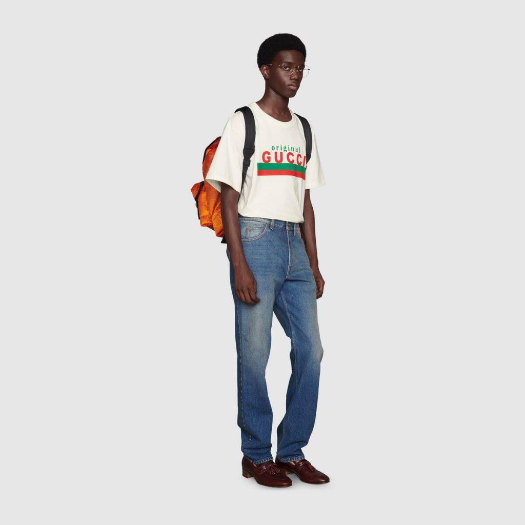 summer 2021 fashion trends men Original Gucci print oversize vintage T-shirt