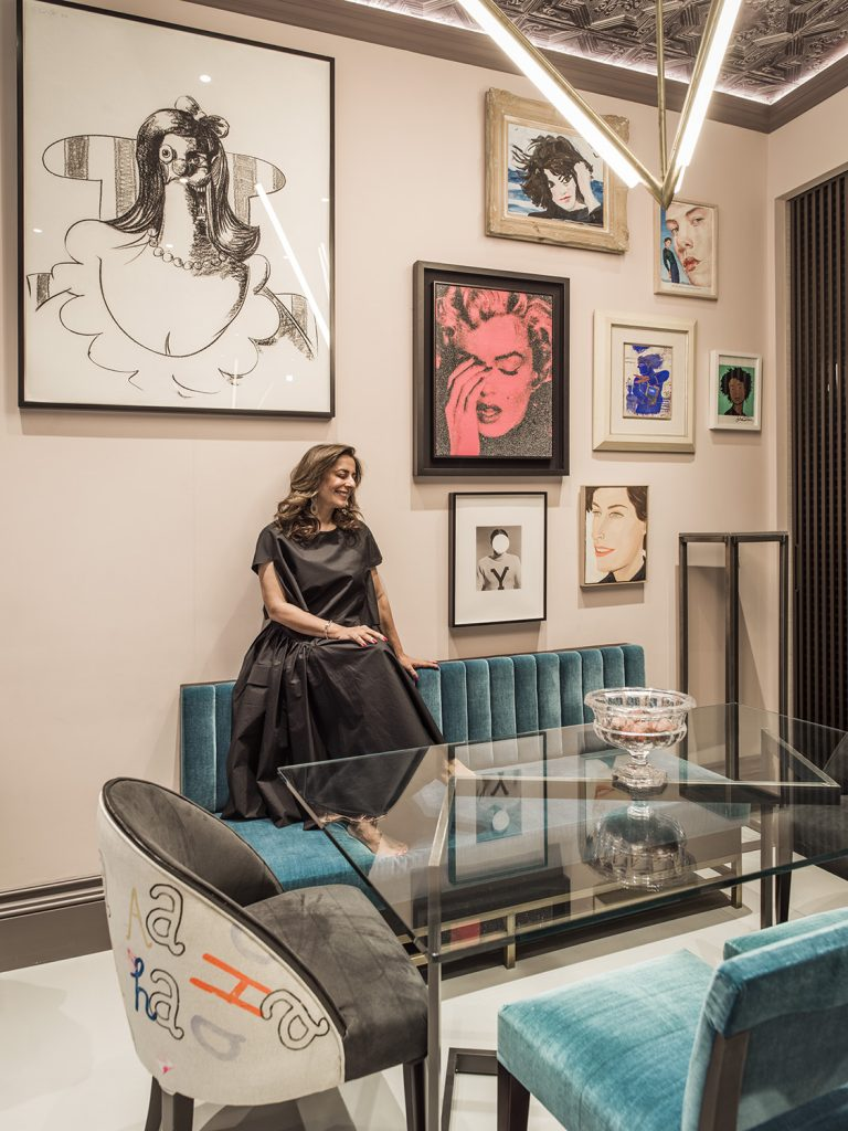 Shalini Misra in one of her artful interiors (Photos by Mel Yates)