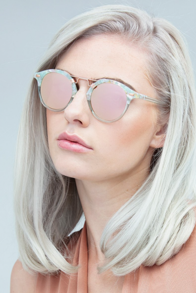 round St. Louis Mirrored Sunglasses by KREWE