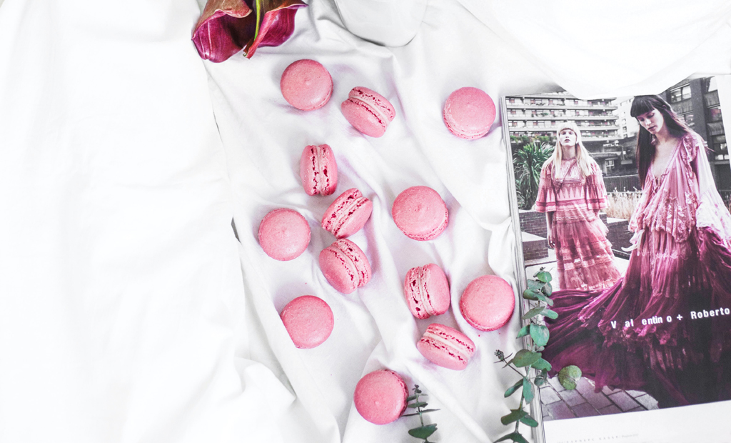 pink food macarons azrul aziz unsplash